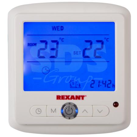 Терморегулятор с дисплеем и автоматическим программированием (R860XT) REXANT рулетка rexant профи