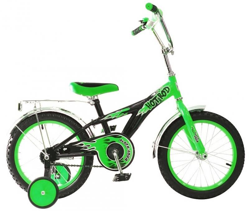 Велосипед двухколёсный Rich Toys BA Hot-Rod 16 1s зеленый KG1606 детский велосипед hot rod 12 12134 orange