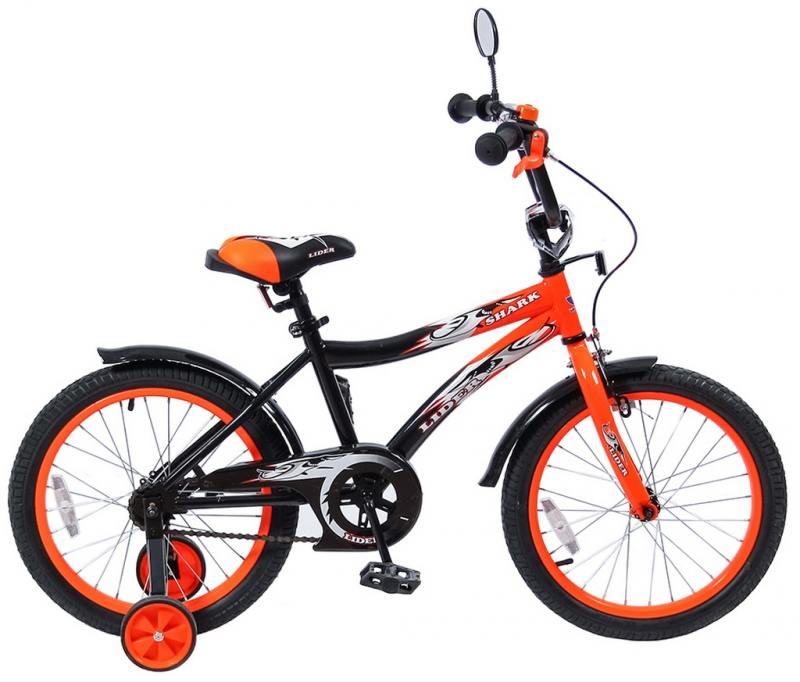 Велосипед двухколёсный Velolider LIDER SHARK 18 18A-1887OR оранжевый/черный велосипед velolider rush army 18 ra18 хаки