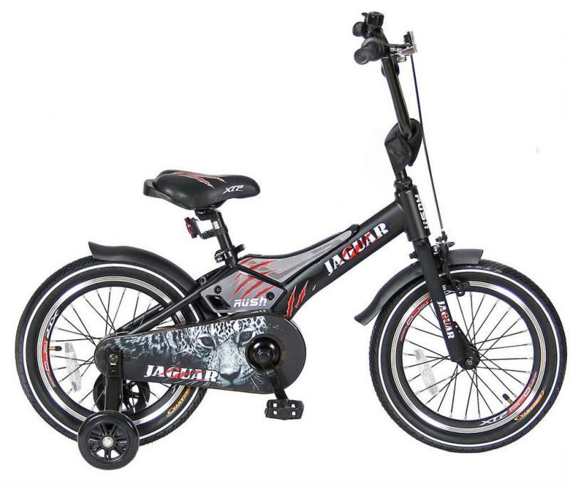 Велосипед двухколёсный Velolider RUSH JAGUAR 16 черный RJ16 велосипед velolider rush sport 18 бирюзовый двухколёсный r18b