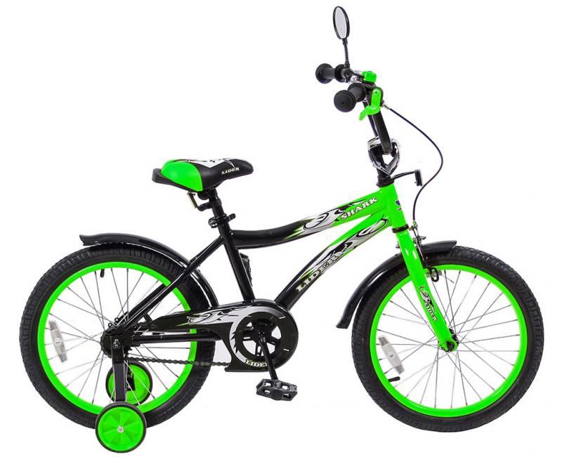 Велосипед двухколёсный Velolider LIDER SHARK 18 зеленый 18A-1887GN велосипед velolider rush army 18 ra18 хаки