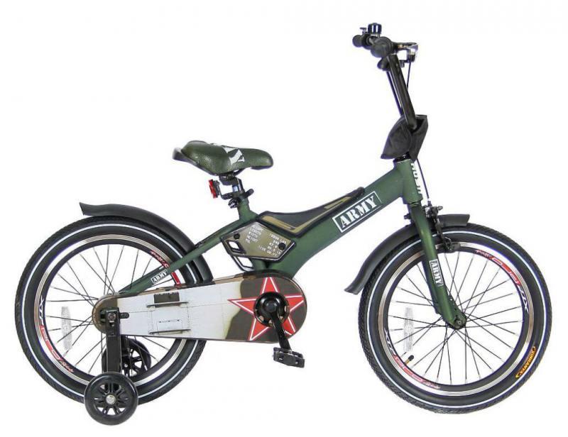 Велосипед двухколёсный Velolider RUSH ARMY 16 RA16 хаки велосипед velolider rush sport 18 бирюзовый двухколёсный r18b
