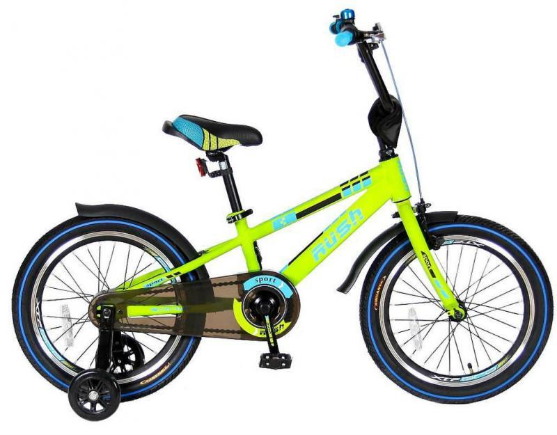 Велосипед двухколёсный Velolider RUSH SPORT 18 зеленый R18G велосипед velolider rush sport 18 бирюзовый двухколёсный r18b