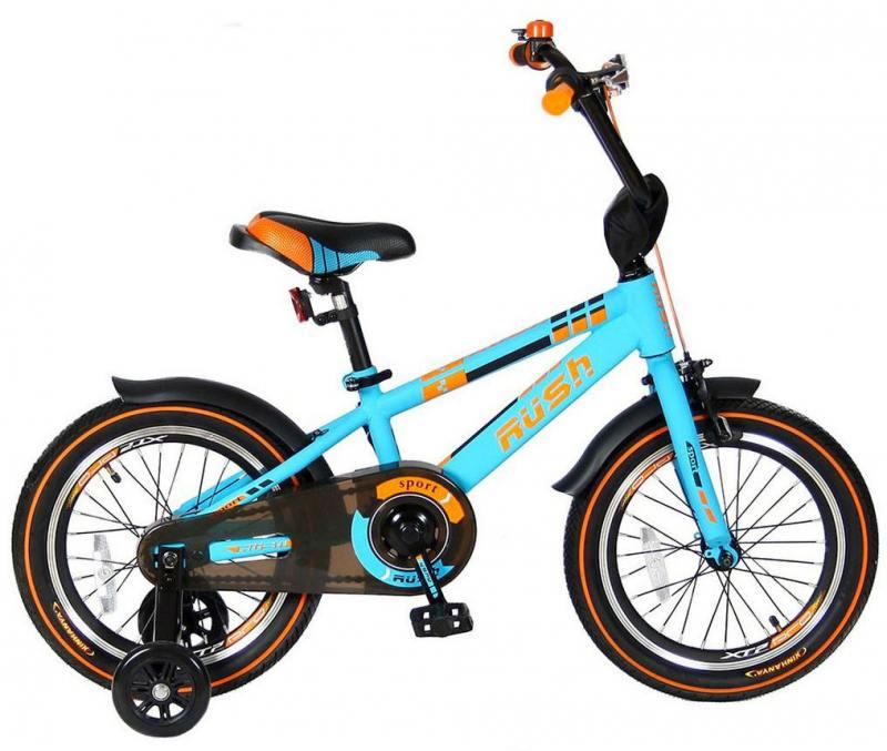 Велосипед двухколёсный Velolider RUSH SPORT 16 бирюзовый R16B