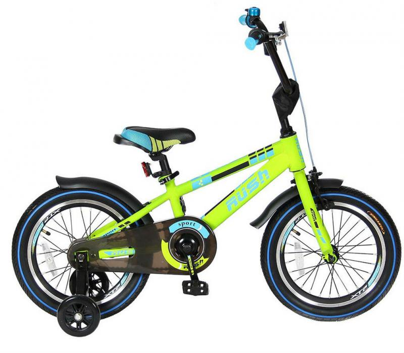 Велосипед двухколёсный Velolider RUSH SPORT 16 зеленый R16G велосипед velolider rush sport 18 бирюзовый двухколёсный r18b