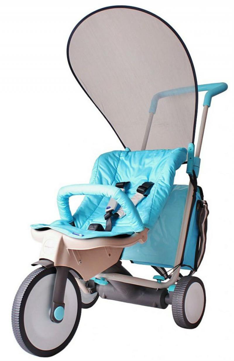 Велосипед трехколёсный Italtrike EVOLUTION 3 в 1 голубой