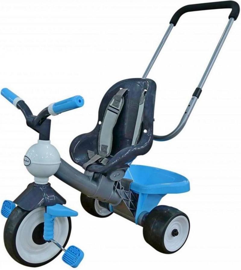 Велосипед трехколёсный Coloma Angel с ручкой и ремешком синий 46437 велосипед трехколёсный coloma angel с ручкой и ремешком синий 46437
