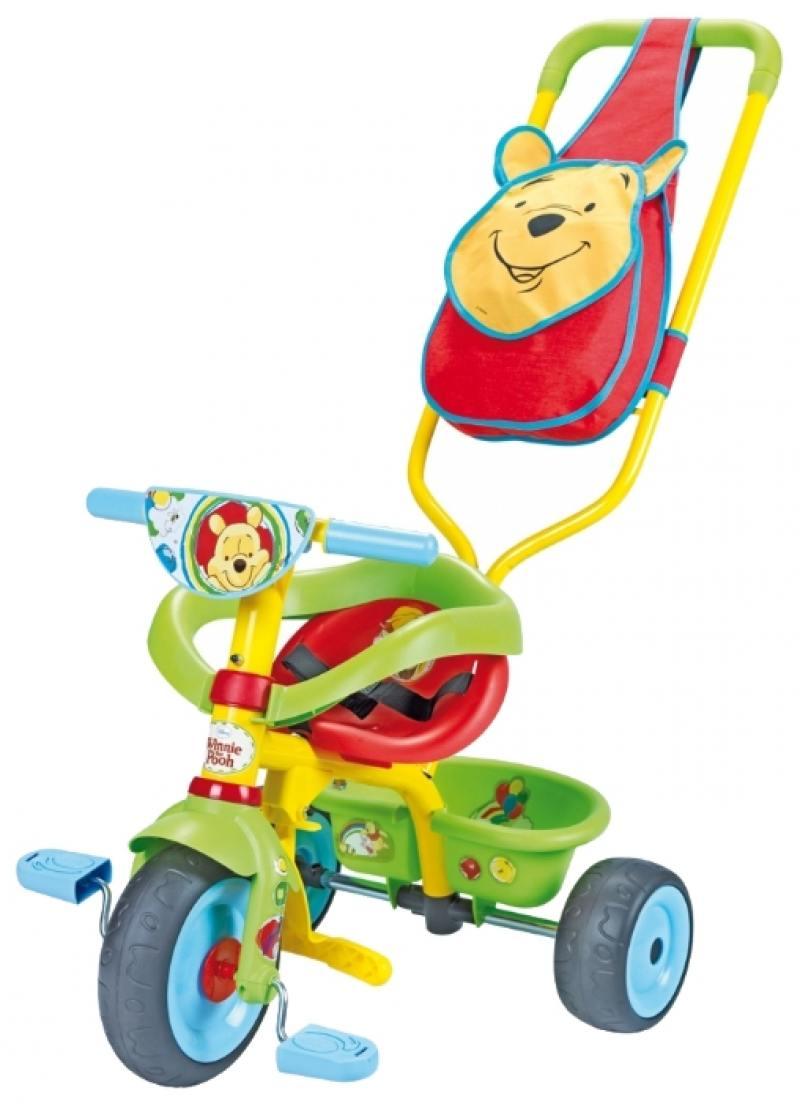 Велосипед трехколёсный Smoby Be Fun Confort Winnie зеленый 444160 велосипед 3 х колесный smoby be fun confort cars 444166