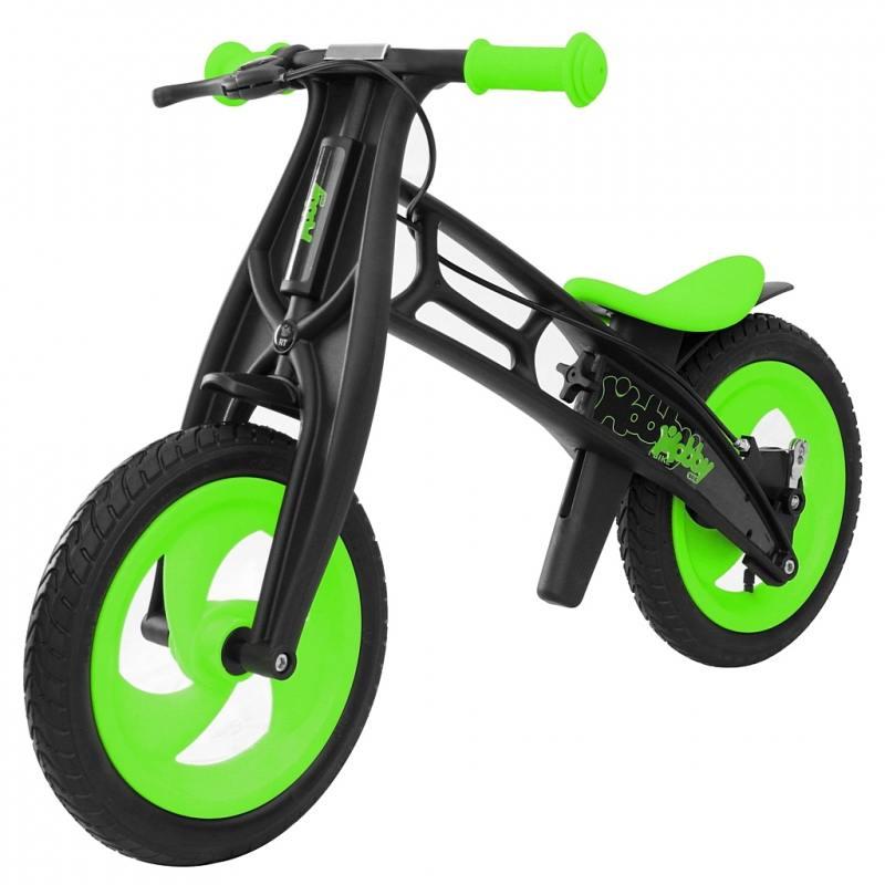Беговел двухколёсный Hobby Bike RT Fly В зеленый 5363 беговел rt hobby bike fly b черная оса red black
