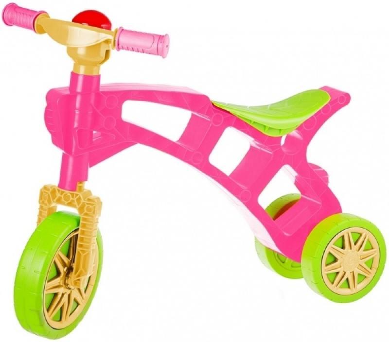 Беговел трехколёсный Rich Toys Самоделкин зелено-розовая 3220