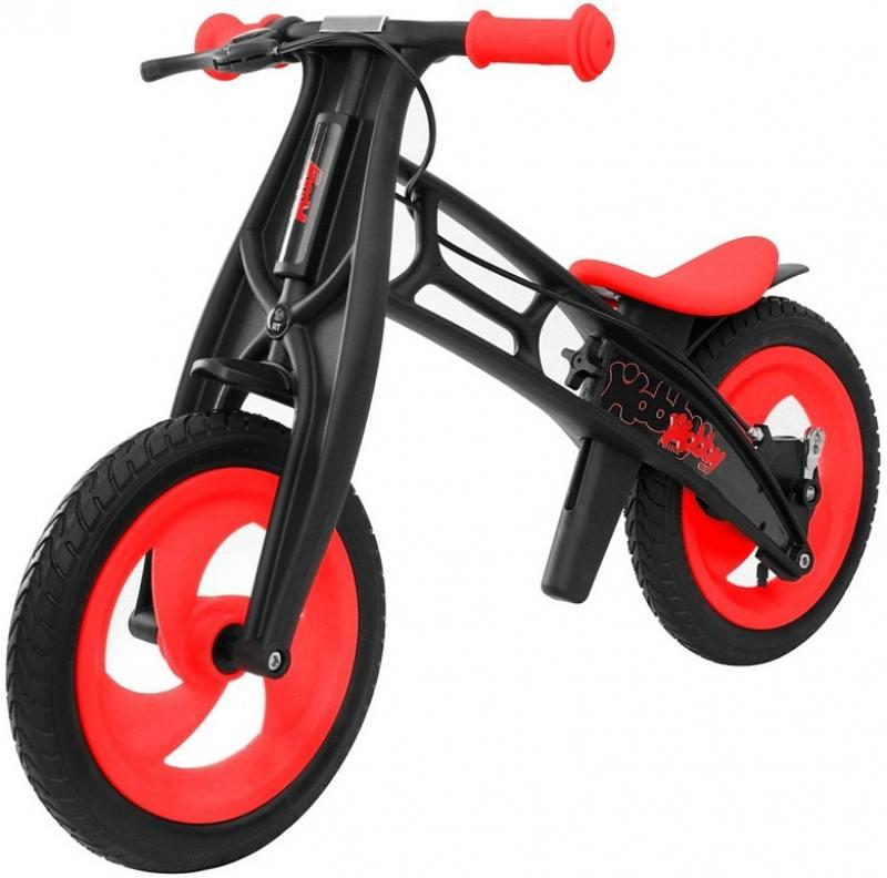 Велобалансир двухколёсный Hobby Bike FLY В черная оса Plastic red/black В-шины волна беговел rt hobby bike fly b черная оса red black