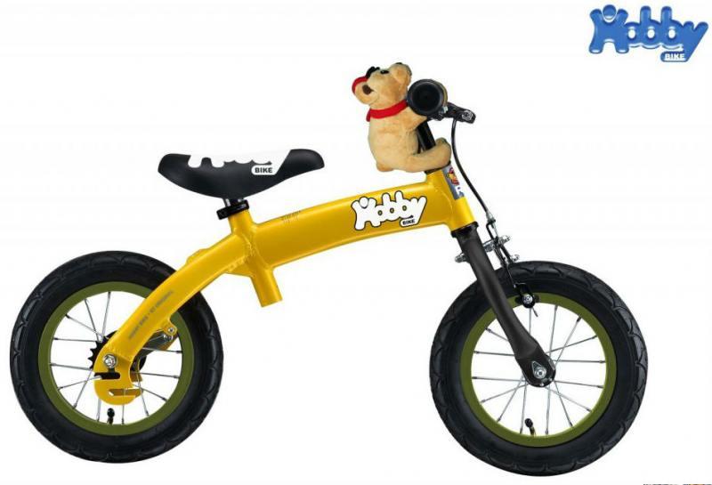 Велобалансир-велосипед двухколёсный Hobby Bike RToriginal ALU NEW 2016 желтый