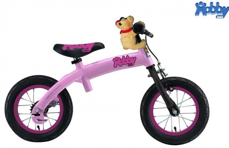 Велобалансир-велосипед двухколёсный Hobby Bike RToriginal ALU NEW 2016 розовый