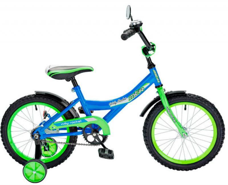 Велосипед двухколёсный RT BA Wily Rocket 12 синий KG1208