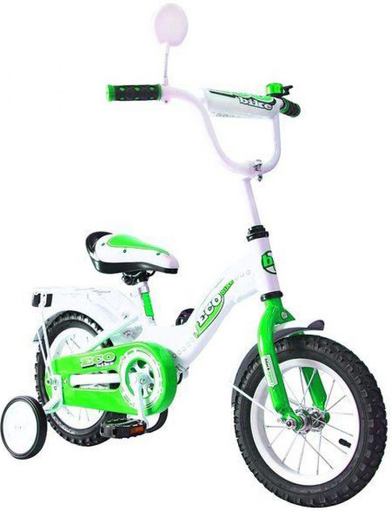 Велосипед двухколёсный Rich Toys Aluminium BA Ecobike зеленый 5411/KG1221 велосипед royal baby pony 2 в 1 зеленый двухколёсный rb12b 4