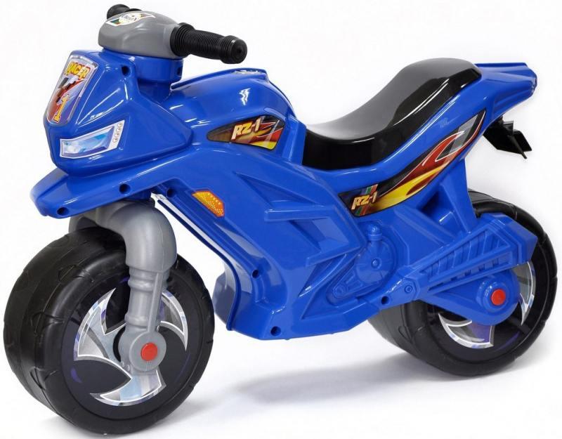 Каталка-беговел двухколёсный RT Мотоцикл Racer RZ 1 синий ОР501