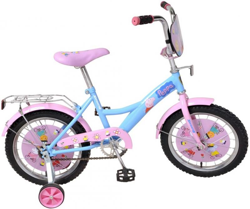 Купить Велосипед двухколёсный Navigator Peppa Pig 16 розовый ВН16093, Навигатор, Велосипеды и беговелы