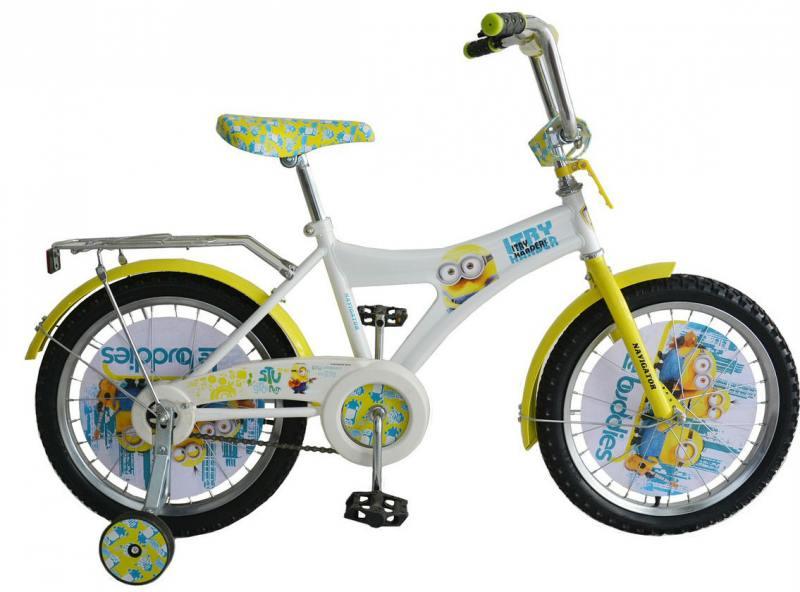 Велосипед двухколёсный Навигатор Гадкий Я 12 желтый ВН12078