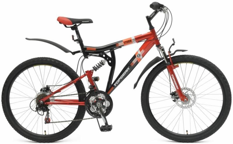 Велосипед Top Gear Storm 225 диаметр колес: 26 дюймов, размер рамы: 20 дюймов, цвет черн/красный TZ3