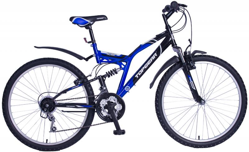 Велосипед Top Gear Nova 120 диаметр колес: 26 дюймов, размер рамы: 18 дюймов, 18 скоростей, черный/с top gear велосипед 26 storm 225 18 скоростей черный желтый вн26389