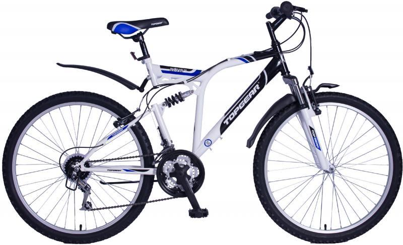 Велосипед Top Gear Nova 120 диаметр колес: 26 дюймов, размер рамы: 20 дюймов, 18 скоростей, черный/б