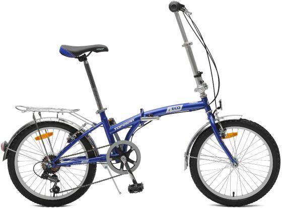 Велосипед Top Gear Eco диаметр колес: 20 дюймов, размер рамы: 11 дюймов, 6 скоростей, складной, синий, ВНС2086