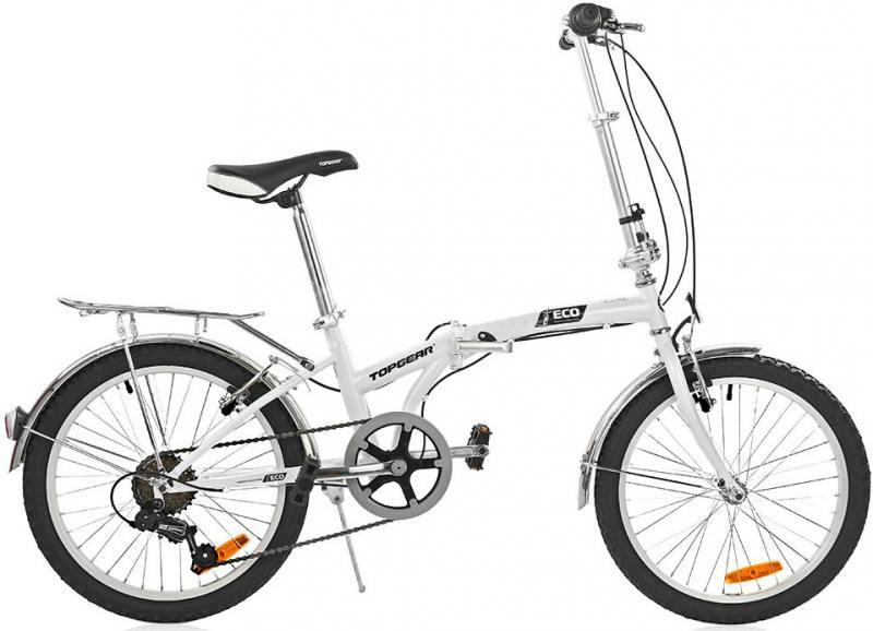 Велосипед Top Gear Eco диаметр колес: 20 дюймов, размер рамы: 11 дюймов, 6 скоростей, складной, белый, ВНС2085 20 дюймов