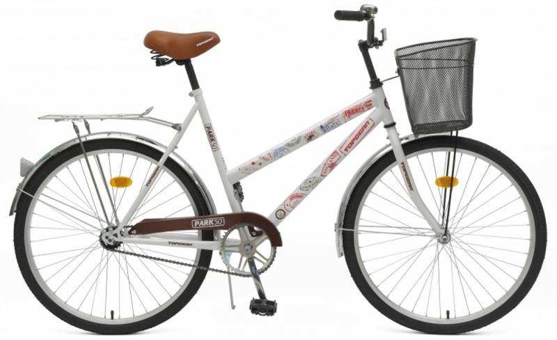 Велосипед Top Gear Park 50 диаметр колес: 26 дюймов, размер рамы: 21 дюйм, белый/коричневый, BH26245K