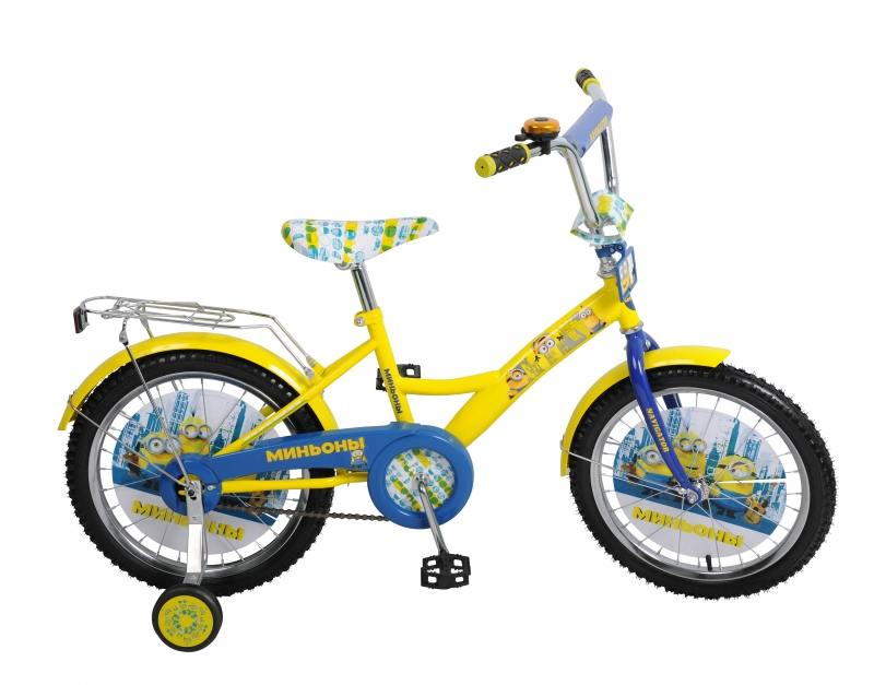 Велосипед двухколёсный Navigator Миньоны 18, KITE-тип,желт/синий ВН18074 kite kite городской рюкзак urban 3 синий