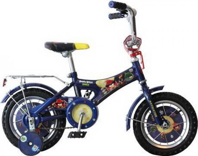 Велосипед двухколёсный Навигатор Angry Birds AB-1-тип,синий/звонок/панель на руле ВН12068