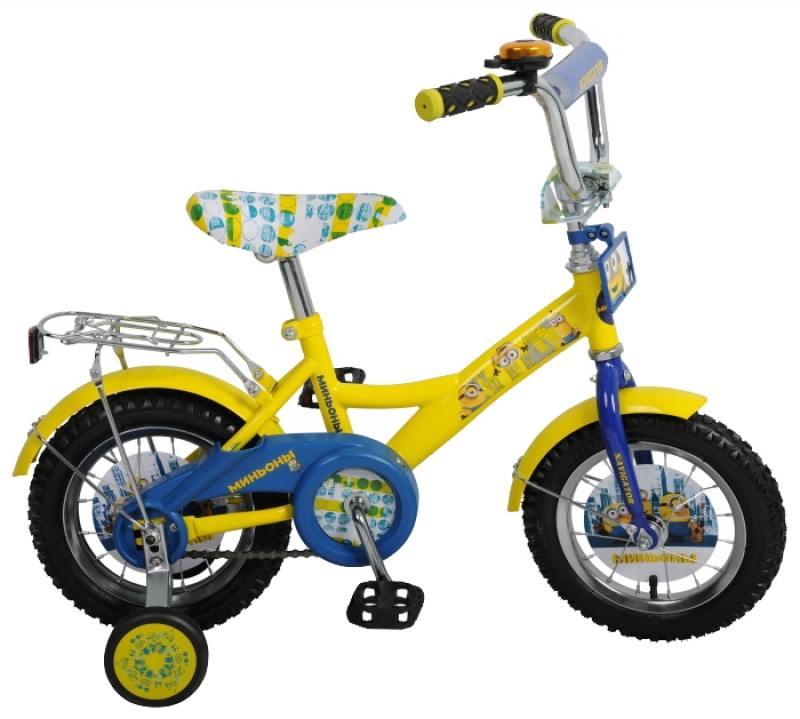 Велосипед двухколёсный Навигатор Миньоны, KITE-тип,желт/синий ВН12092 велосипед royal baby butterfly 12 синий двухколёсный