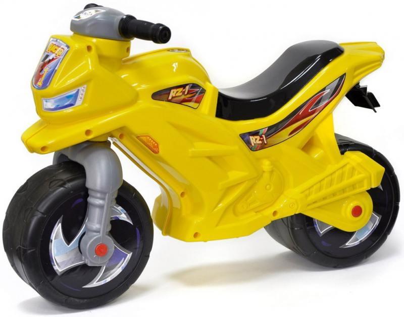Каталка-мотоцикл двухколёсный RT Racer RZ 1 желтый ОР501в3