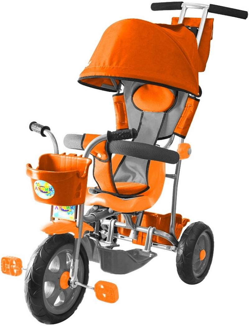 Велосипед трехколёсный Rich Toys Galaxy Лучик с капюшоном оранжевый Л001 велосипед двухколёсный rich toys ba camilla 14 1s розовый kg1417