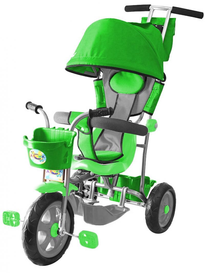 Велосипед трехколёсный Rich Toys Galaxy Лучик с капюшоном зеленый 5595/Л001 велосипед двухколёсный rich toys aluminium ba ecobike зеленый 5411 kg1221