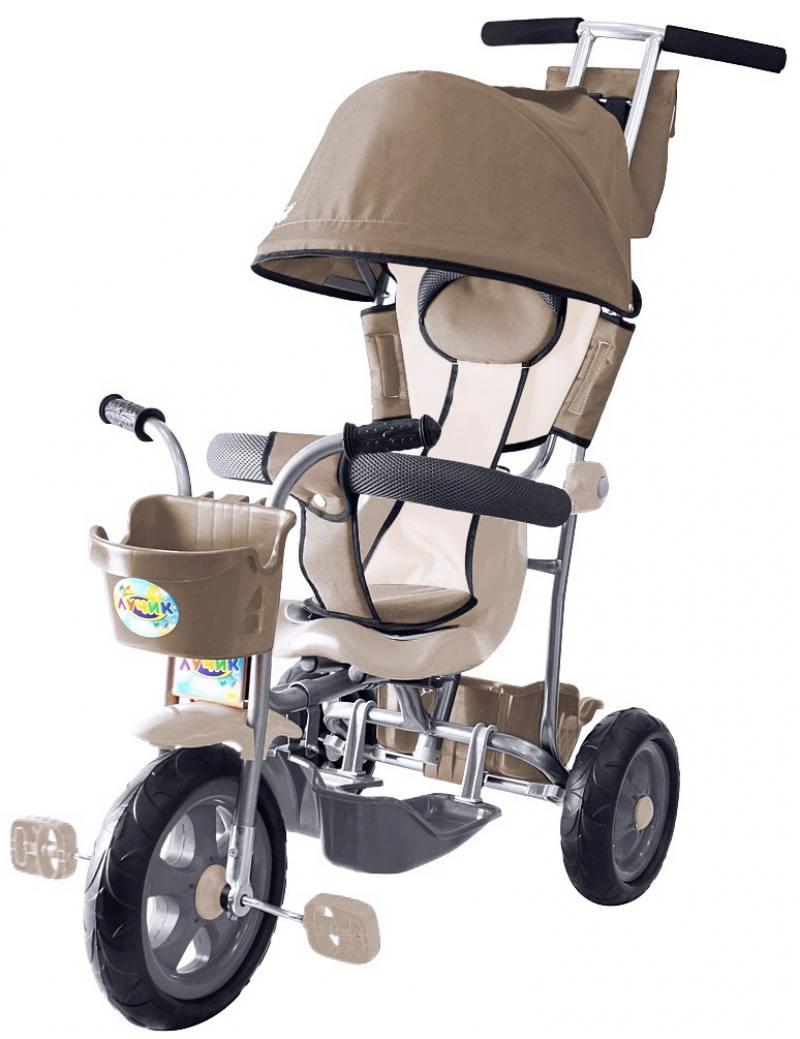 Велосипед трехколёсный Rich Toys Galaxy Лучик с капюшоном 5593/Л001 коричнево-бежевый