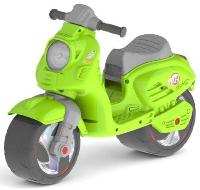 Купить Каталка-мотоцикл беговел RT СКУТЕР цвет зелёный ОР502, Велосипеды и беговелы