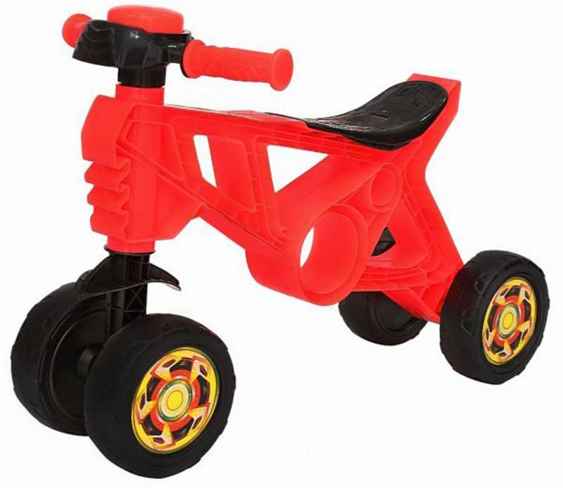 Купить Каталка-беговел четырёхколёсный RT Самоделкин красный ОР188, Велосипеды и беговелы