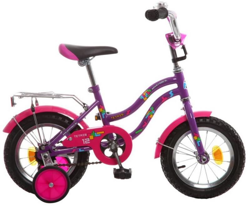 Велосипед двухколёсный Novatrack Tetris 12 фиолетовый детский велосипед для мальчиков novatrack tetris x60777 к blue