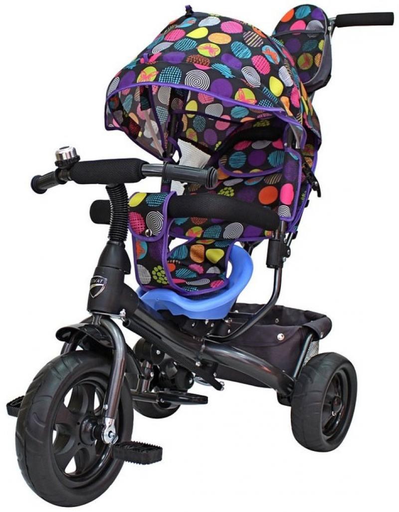 Велосипед трехколёсный RT Galaxy Лучик VIVAT Дизайн круги