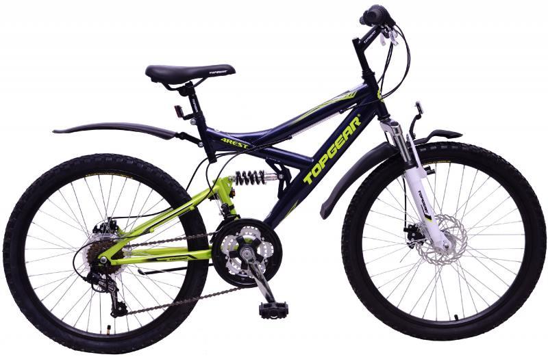 Велосипед горный Top Gear 4Rest 225 диаметр колес: 24, размер рамы: 16.5, 18 скоростей, черный, ВН24133