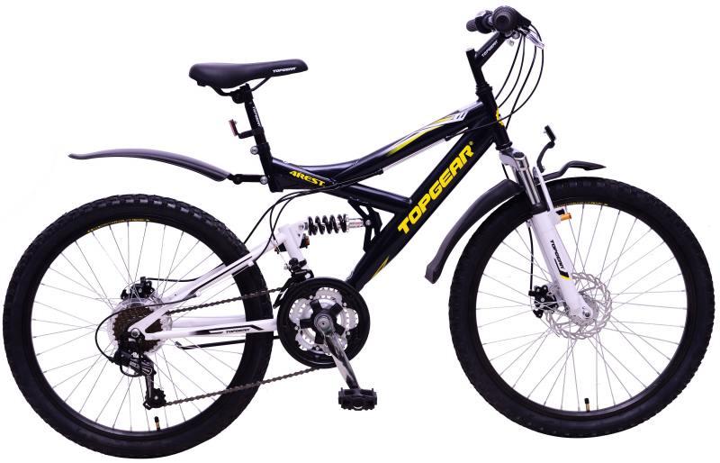 """Велосипед двухколёсный Top Gear """"4REST"""" 24"""" черный"""