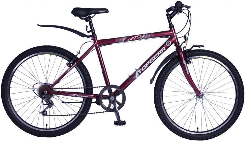 """Велосипед двухколёсный Top Gear Kinetic 100 26"""" бордовый ВН26419В"""