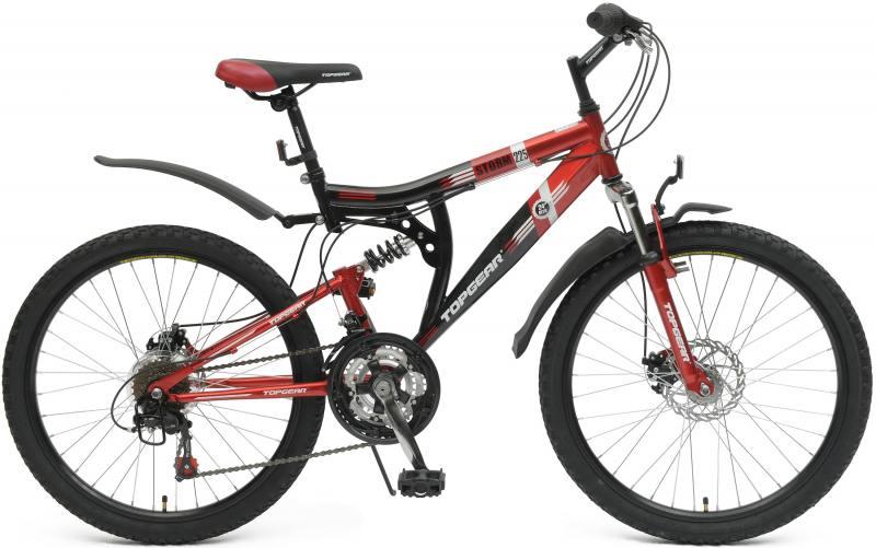 Велосипед двухколёсный Top Gear Storm 225 24 черно-красный