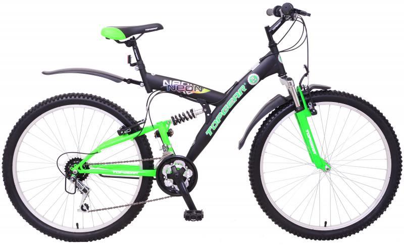 """Велосипед двухколёсный Top Gear Neon 120 26"""" черно-зеленый"""
