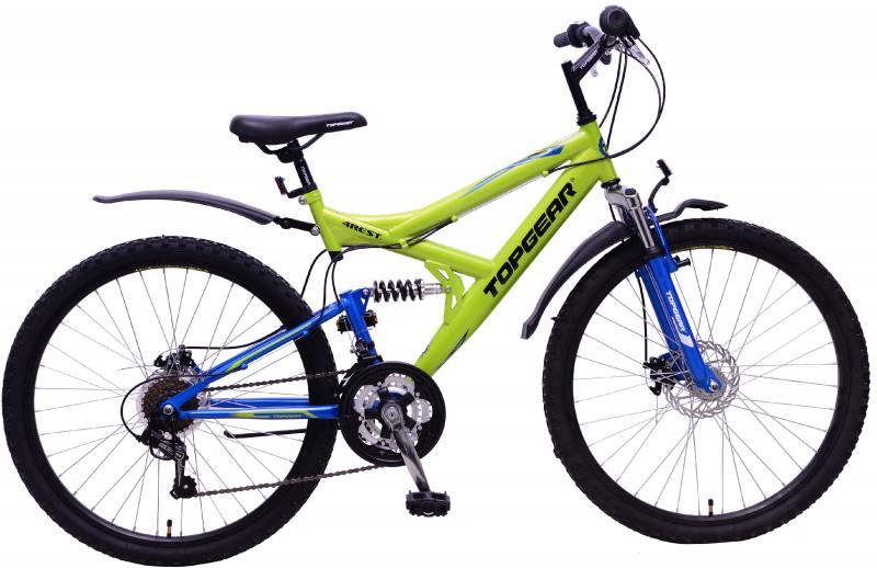 Велосипед горный Top Gear 4Rest 225 диаметр колес: 26, размер рамы: 18, 18 скоростей, зеленый/синий, ВН26425