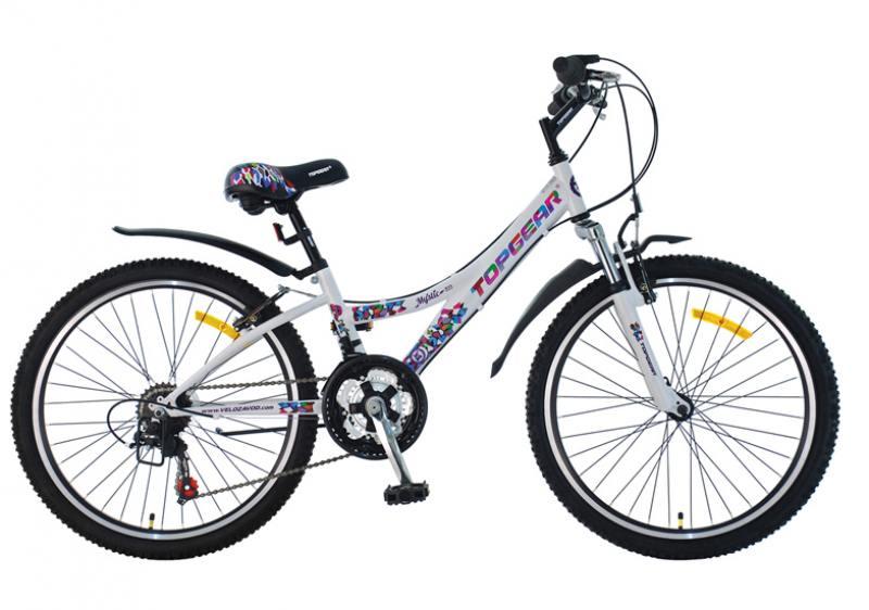 Велосипед двухколёсный Top Gear 24 Mystic, 210 18ск. TZ 31/TZ50/RS35 Shimano,тормоз V-тип,дв.обода, top gear велосипед 24 mystic 210 18 скоростей черный вн24087