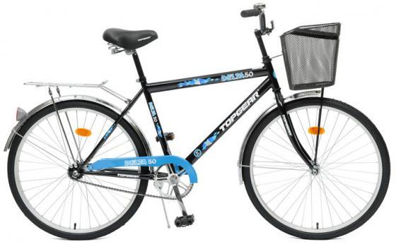 Велосипед Top Gear Delta 50 диаметр колес: 26 дюймов, размер рамы: 21 дюйм, черн/син. ВН26247