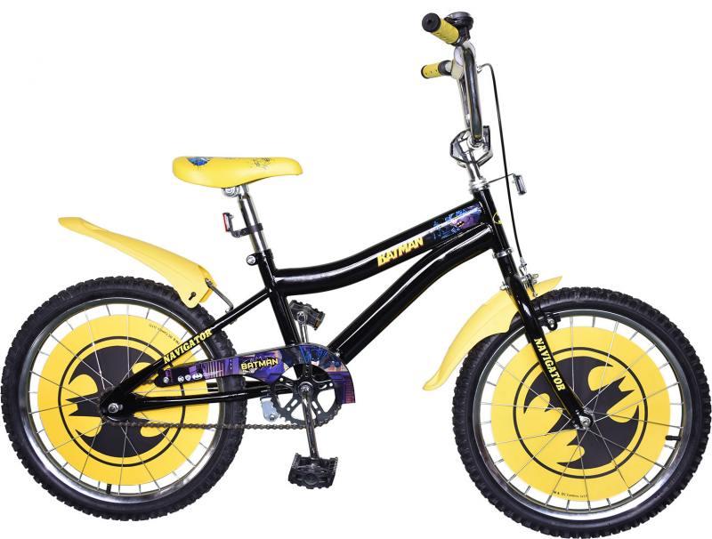 "Велосипед двухколёсный Navigator Бэтмен 20"" черно-желтый ВН20172"
