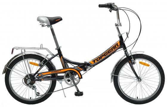 Велосипед двухколёсный Top Gear Compact 50 (ВНС2083-6s) 20 черно-оранжевый велосипед двухколёсный top gear delta 50 вн26247 26 черно синий