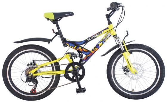 Купить Велосипед горный Top Gear Hooligan 225 диаметр колес: 20 , размер рамы: 14 , 6 скоростей, черный/желтый, ВН20075, Велосипеды и беговелы